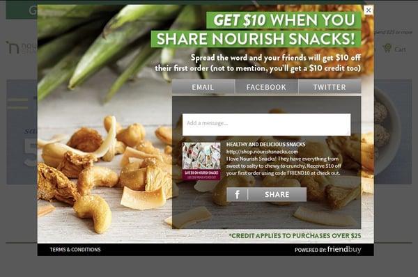 Nourish Snacks referral program