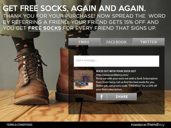 SockFancy referral program
