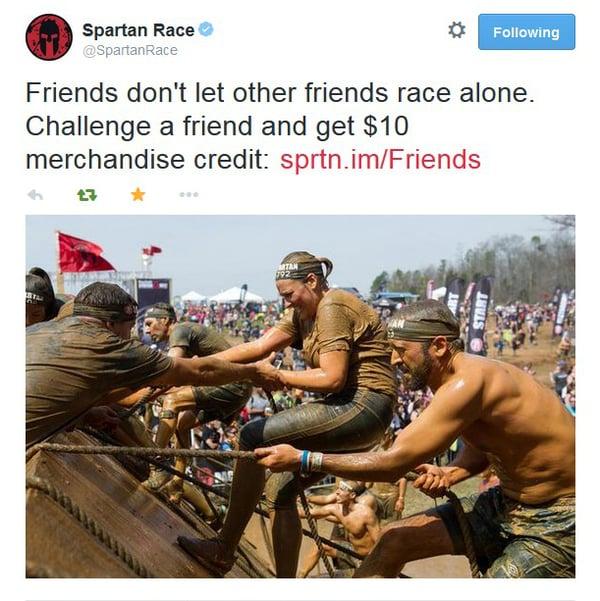 Spartan Race referral incentive