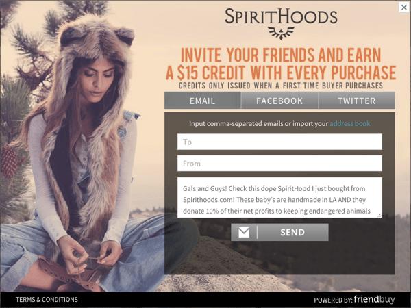 Spirithoods referral program