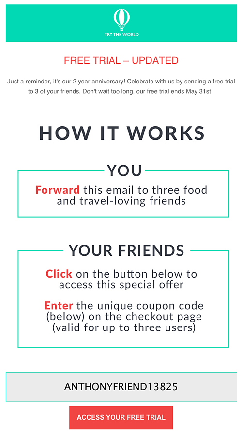 social gifting email example