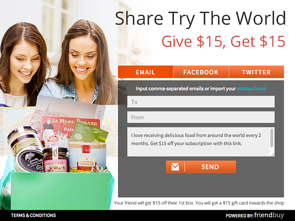 Try The World Referral Incentive Program