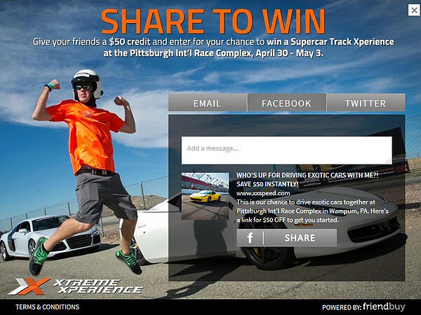 Xtreme Xperience referral contest