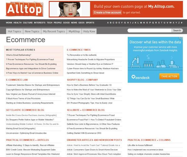 alltop ecommerce blog