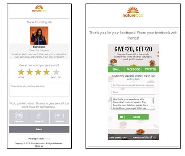 Referral Marketing Tactics of the Best Brands - NatureBox Referral NPS