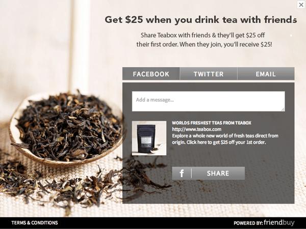 teabox referral widget